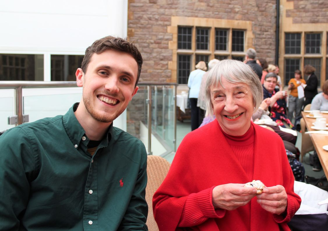 National Intergenerational Week - Two participants of the Life Stories project with Bristol University and St Monica Trust