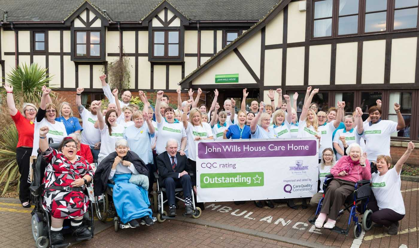 John Wills House care home in Bristol celebrate Outstanding rating