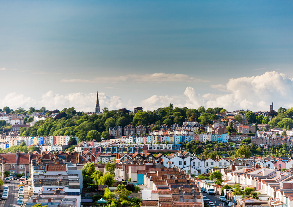 The view over Bristol from the roof garden of Monica Wills House