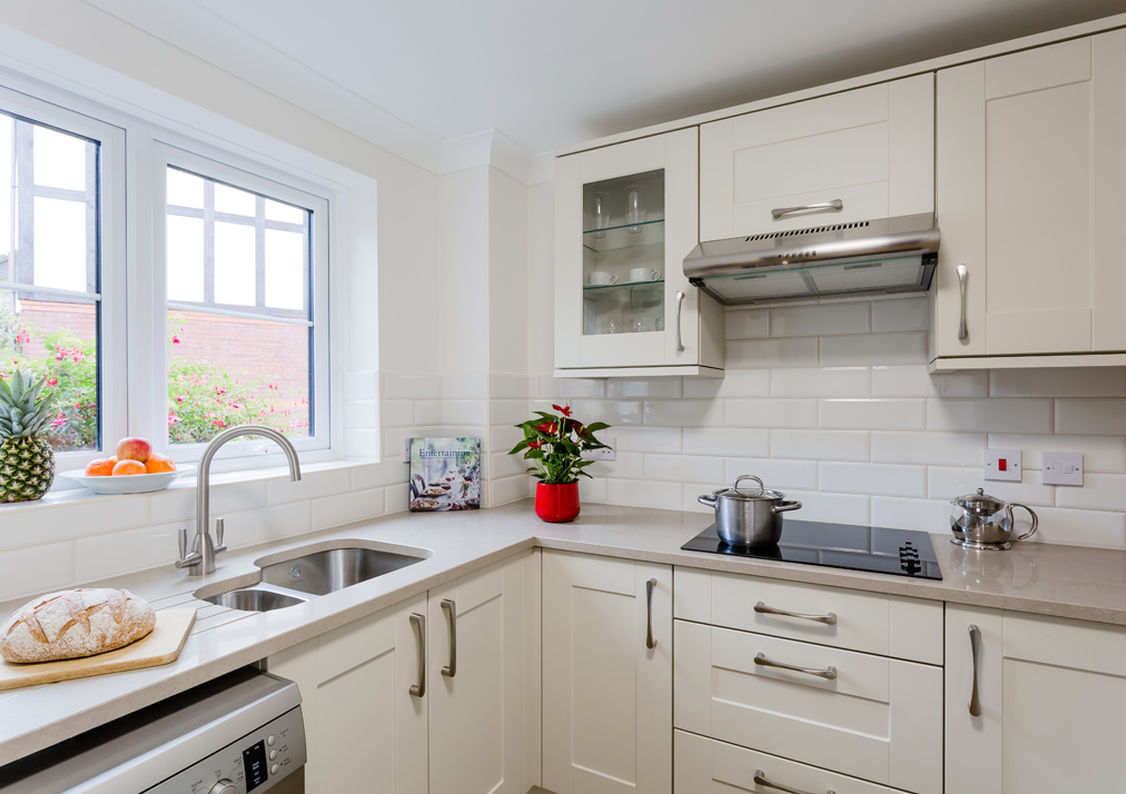 A kitchen in a property at Westbury Fields Retirement Village