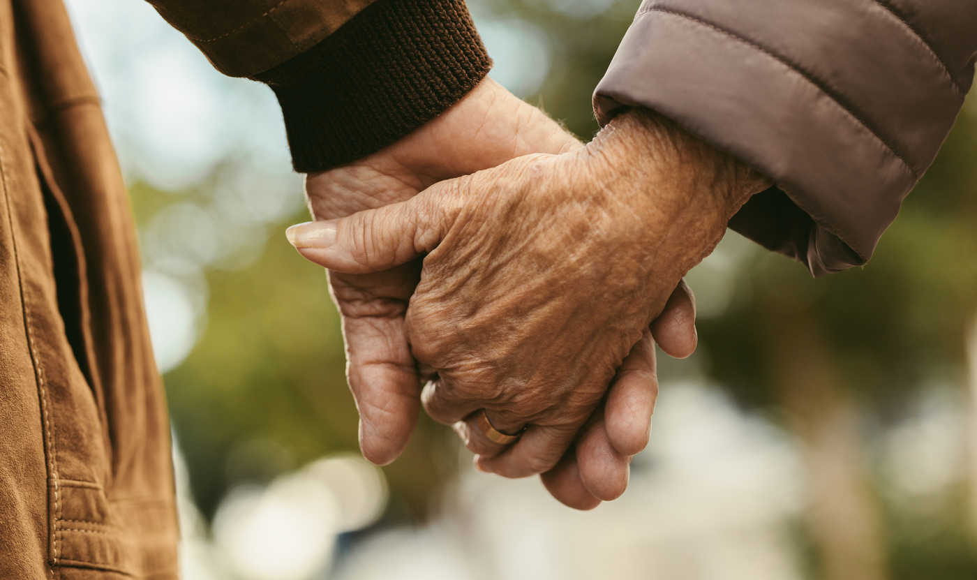 Westbury Fields Dementia Day Service - Couple Hold Hands