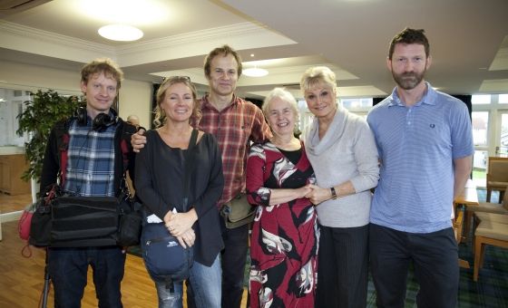 Dr Jenny Bute with Angela Rippon filming The Truth About Dementia